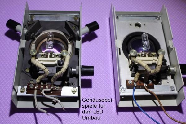 LED Umbausatz Universal für Zeiss Jena 10 Volt/50-100 Watt Gehäuse