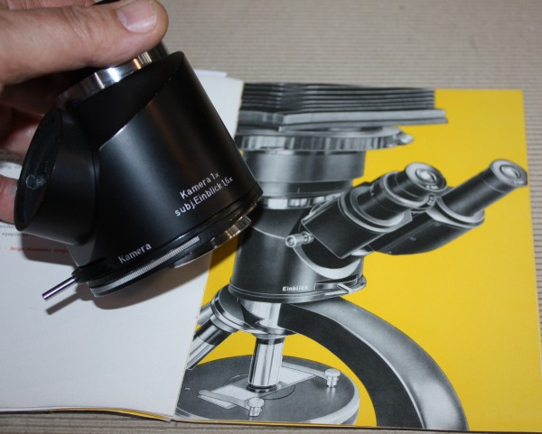 Winkeltubus 1,6x / 1x / mit Filterrevolver / Zeiss Jena