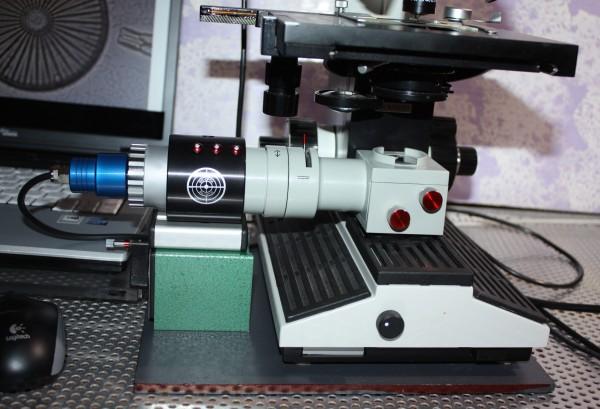 LED Köhlerbeleuchtung extern mit Haftmagnet / Stahlbasisplatte / LED Tischnetzgerät