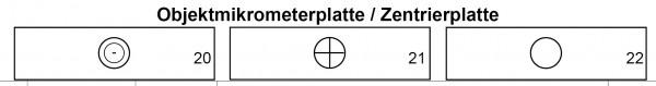 Objektmikrometer/Zentrierplatte CZJ