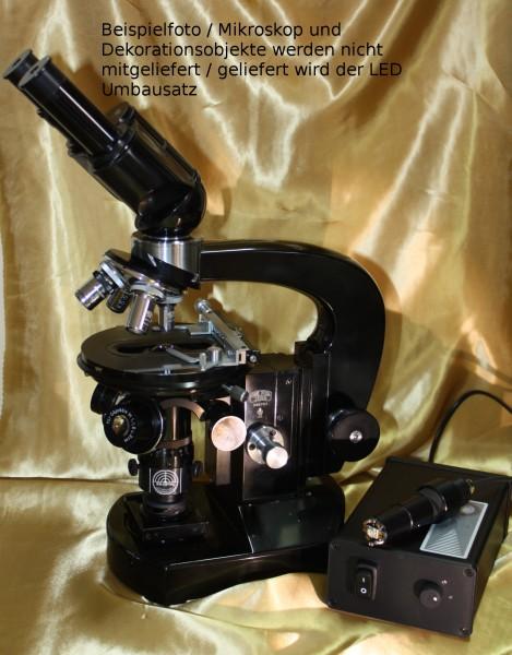 LED Umbau für Mikroskop Zeiss Jena Lumipan