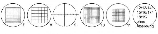 Mess-Zähl-Formatplatten CZJ Nr. 7-19