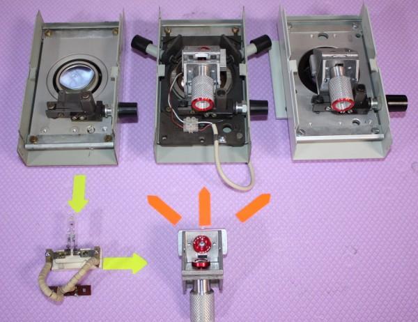 LED Umbau Mikroskope Zeiss Jena