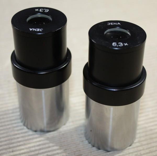 2 Okulare 6,3x Zeiss Jena /Steck 34mm /für Mikroskope SMXX