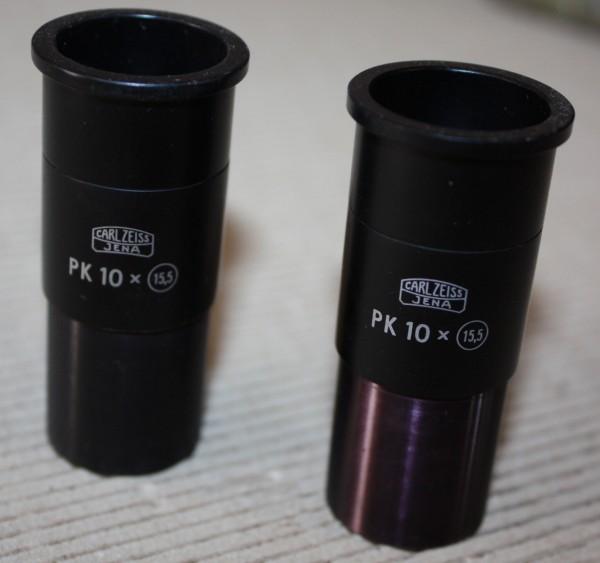 2 Okulare PK 10/ Zeiss Jena/ Steck 23,2 mm