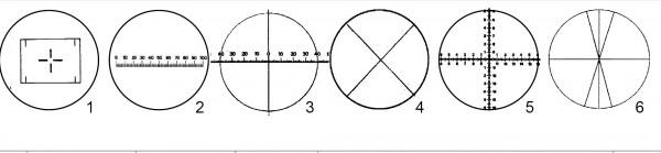 Mess-Zähl-Formatplatten Zeiss Jena 1-6